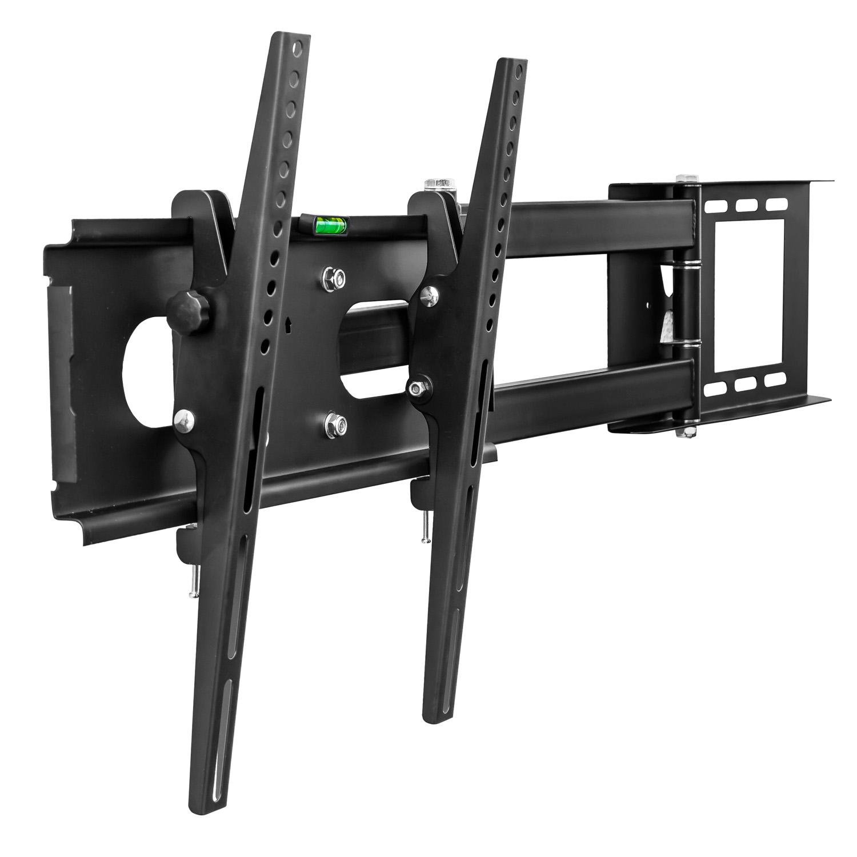 universelle tv wandhalterung wandabstand 10 65cm schwenkbar mit kabelkanal ebay. Black Bedroom Furniture Sets. Home Design Ideas