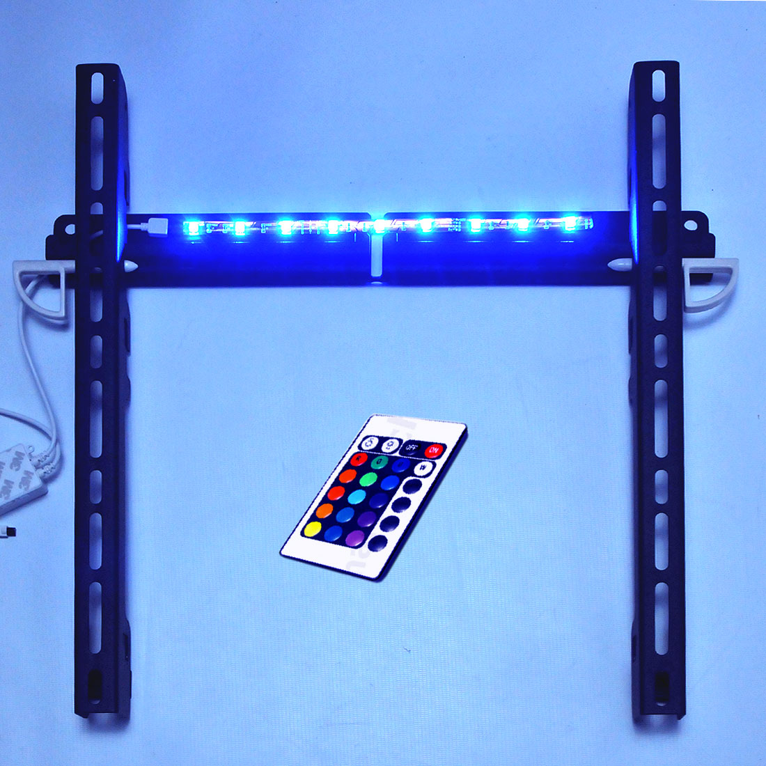 Slim wandhalterung mit beleuchtung und fb f r alle tv bis - Tv wandhalterung 75 zoll ...