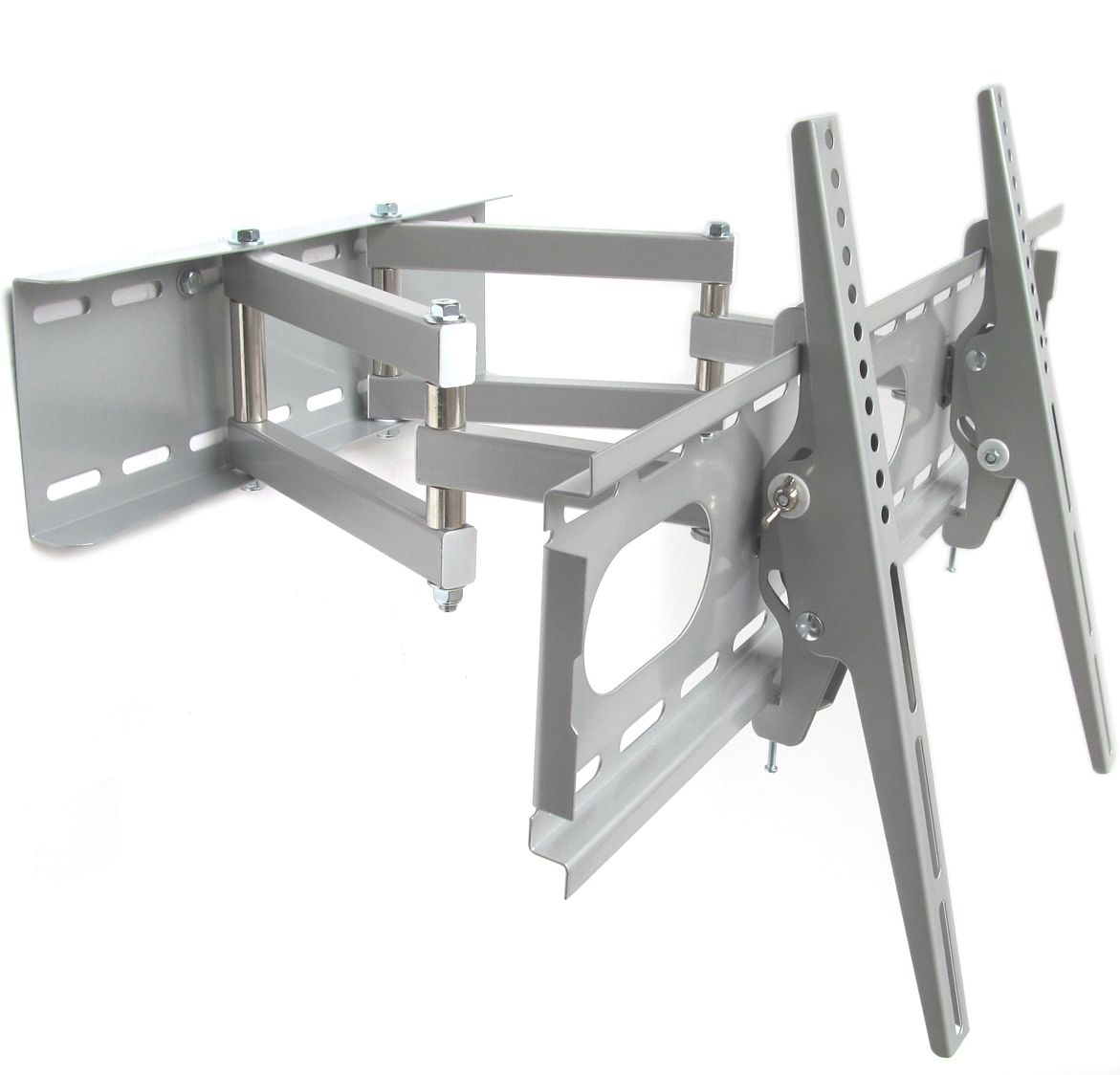 Telescoping Tv Arm : Wall bracket color silver for all tv double arm