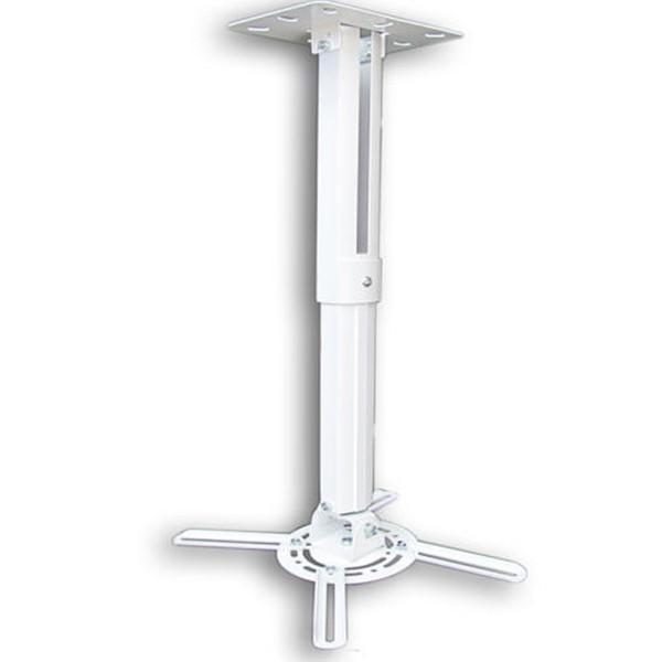 Beamer Projektor Deckenhalterung  drehbar 360° ausziehbar bis 55 cm weiß