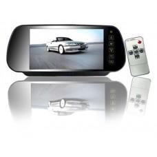 Rückspiegelmonitor für Auto Rückpiegelaufsatz Automonitor 7 Zoll 2 Videoeingänge