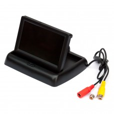Minimonitor mit Klappfunktion, 4,3 Zoll, 10,9 cm Automonitor, Parkmonitor