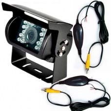 Bus LKW Infrarot-Rückfahrkamera mit Funk 18 LEDs 120 Grad schwarz 24V