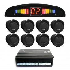 Einparkhilfe mit 8 A-Class-Sensoren: 4 vorne und 4 hinten schwarz LED-Display