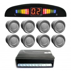 Einparkhilfe mit 8 A-Class-Sensoren: 4 vorne und 4 hinten silber LED-Display