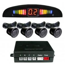 Einparkhilfe mit 4 A-Class-Sensoren schwarz LED-Display