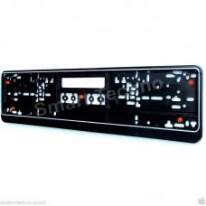 Kennzeichenschildhalter Nummernschildhalter schwarz mit Gummi, anti-Vibration