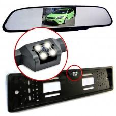 Rückfahrkamera Rückspiegel Monitor Nummernschildhalter 5 Zoll Ultrahelle LEDs