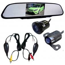 Autokamera Funkparksystem Rückfahrkamera Rückspiegel mit Monitor