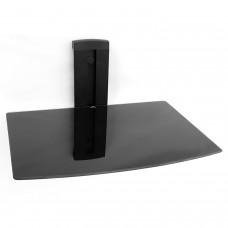Media Player Konsole Regal Anlageträger eine Glasplatte Wandhalterung schwarz