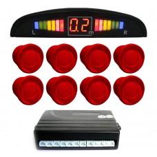 Einparkhilfe mit 8 A-Class-Sensoren: 4 vorne und 4 hinten Farbe rot LED-Display