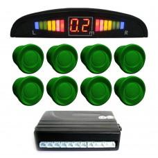 Einparkhilfe mit 8 A-Class-Sensoren: 4 vorne und 4 hinten grün LED-Display