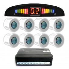 Einparkhilfe mit 8 A-Class-Sensoren: 4 vorne und 4 hinten unlackiert LED-Display