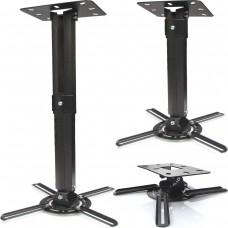 Beamer Projektor Deckenhalterung  drehbar 360° ausziehbar bis 55 cm schwarz