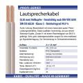Lautsprecherkabel 30m 2x1,5mm² echtes Kupfer Audio Transparent Made in Germany