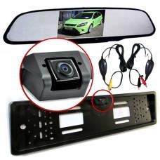 Nummernschildkamera  Funk Rückfahrkamera mit Rückspiegel