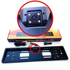 Nummernschild Rückfahrkamera 4 Ultrahelle LEDs  170 Grad Blickwinkel schwarz