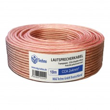 10m Lautsprecherkabel 2x4mm² CCA Audio Transparent Metermarkierung