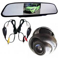 Funkparksystem Parkhilfe Autokamera 360 Grad Rückspiegel mit Monitor 4,3 Zoll