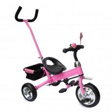 Dreirad Kinder SERVOLENKUNG Lenkstange Kinderdreirad für 2-5 Jahre Fahrrad PINK