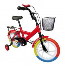 """Kinder Fahrrad Rot Harlekin Rad 35,4cm 14"""" Zubehör Felgenbremsen Stützräder Kids"""