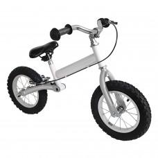 """Kinder Laufrad Hinterradschwinge Handbremse 31,6cm 12,5"""" silber-weiß Lernlaufrad"""