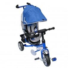 Dreirad  mit Dach Lenkstange Kinder 2-5 Jahre Fahrrad blau metallic