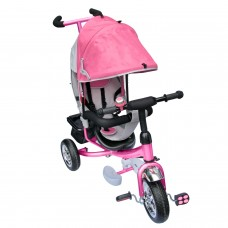 Dreirad  mit Dach Lenkstange Kinder 2-5 Jahre Fahrrad pink