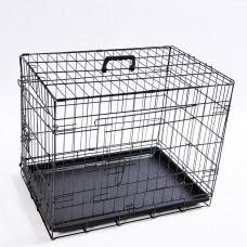 Hundekäfig faltbar, Größe M, Abmessungen: 76 x 46 x 51,5 cm, Farbe schwarz