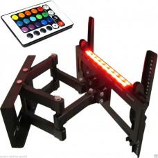 TV-Wandhalterung mit Doppelarm, ausziehbar, schwenkbar, mit Beleuchtung, für Geräte von 12 bis 30 kg