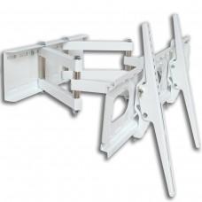 TV-Wandhalterung mit Doppelarm, ausziehbar, schwenkbar, Farbe weiß, für Geräte 12 - 30 kg