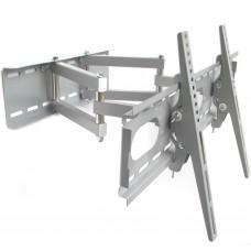 TV-Wandhalterung mit Doppelarm, ausziehbar, schwenkbar, Farbe silber, für Geräte 12 - 30 kg