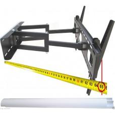 TV-Wandhalterung mit Doppelarm, ausziehbar, schwenkbar, für schwere Geräte von 20 bis 70 kg