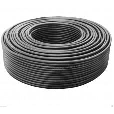 30m Lautsprecherkabel 2x0,75mm² OFC rund schwarz Metermarkierung