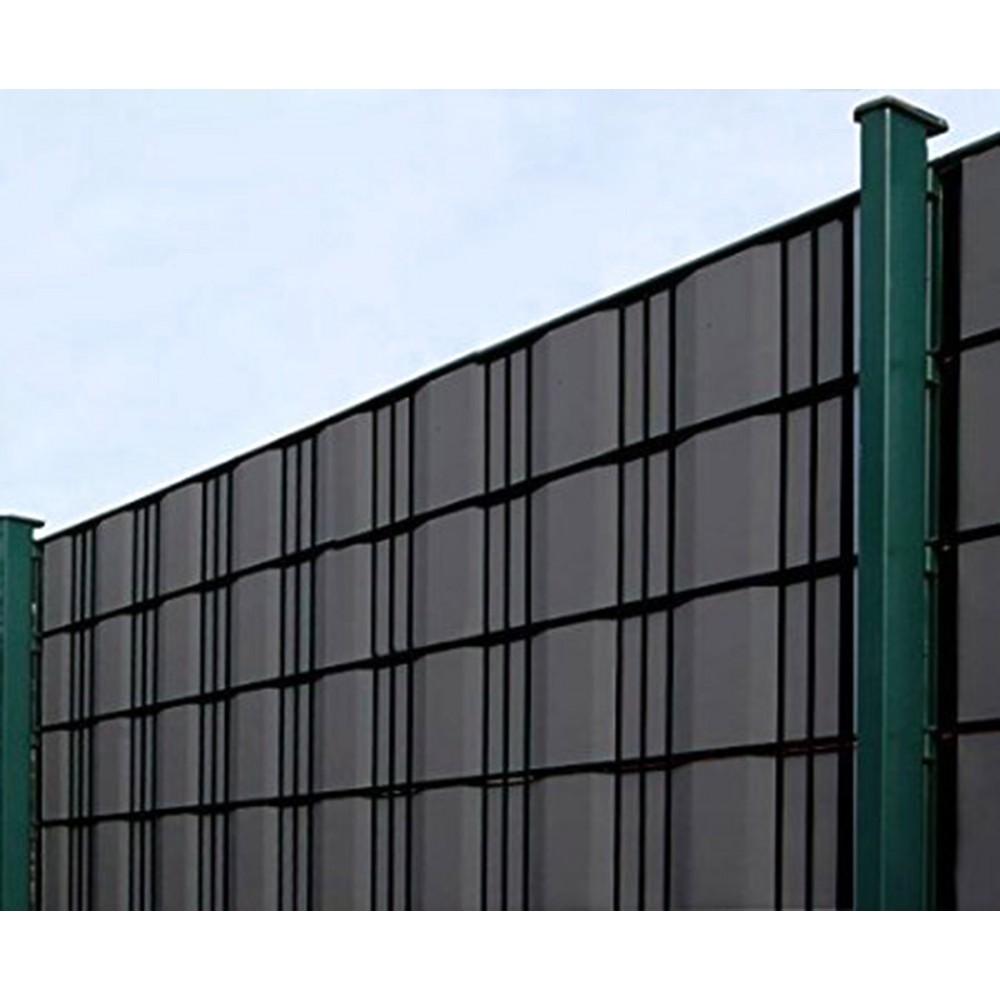 sichtschutzstreifen sichtschutzzaun 35m pvc sichtschutz zaun 20 clips. Black Bedroom Furniture Sets. Home Design Ideas