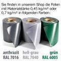 Sicht-, Wind-, Lärmschutz Rolle 35m anthrazit RAL 7016 0,45 kg/m² Doppelstabmatten 20 Clips