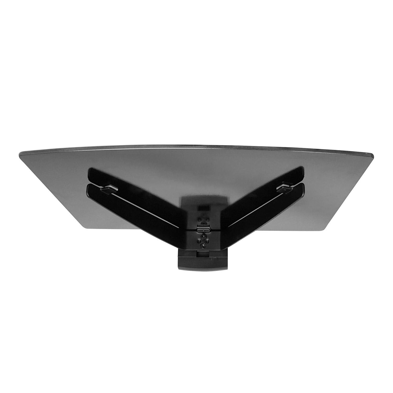 dvd bluray player konsole wandhalterung glas media regal anlage tr ger pkk ebay. Black Bedroom Furniture Sets. Home Design Ideas