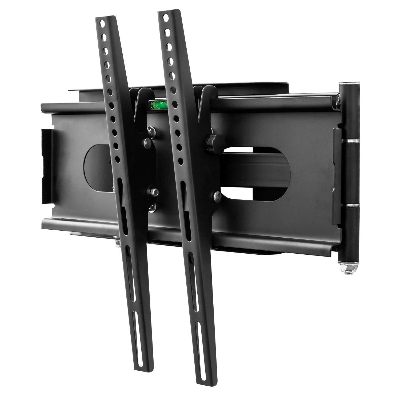 schwenkbare tv wandhalterung mit beleuchtung mit kabelkanal tv bis 55 zoll ebay. Black Bedroom Furniture Sets. Home Design Ideas