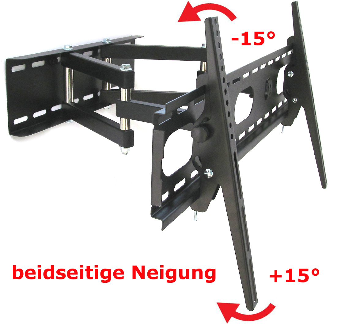 tv lcd led 3d wandhalterung halterung mit doppelarm schwenkbar weiss bis 30 kg ebay. Black Bedroom Furniture Sets. Home Design Ideas