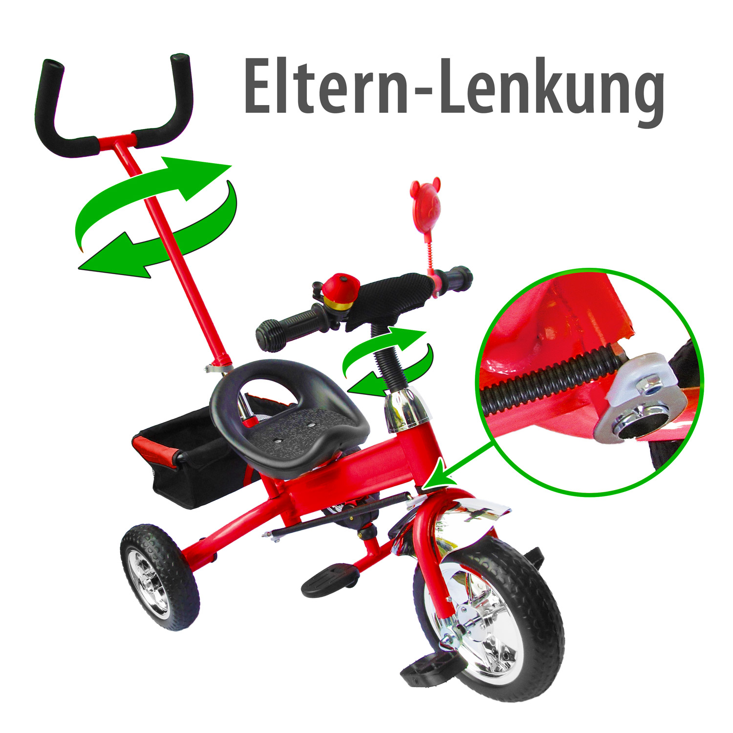 dreirad lenkstange kinder 2 5 jahre fahrrad rot metallic 716982564972 ebay. Black Bedroom Furniture Sets. Home Design Ideas