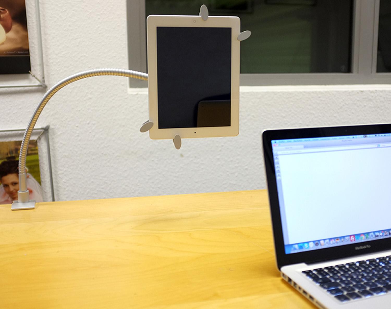 alu schwanenhals halterung tablet bis 15 handys ipad. Black Bedroom Furniture Sets. Home Design Ideas