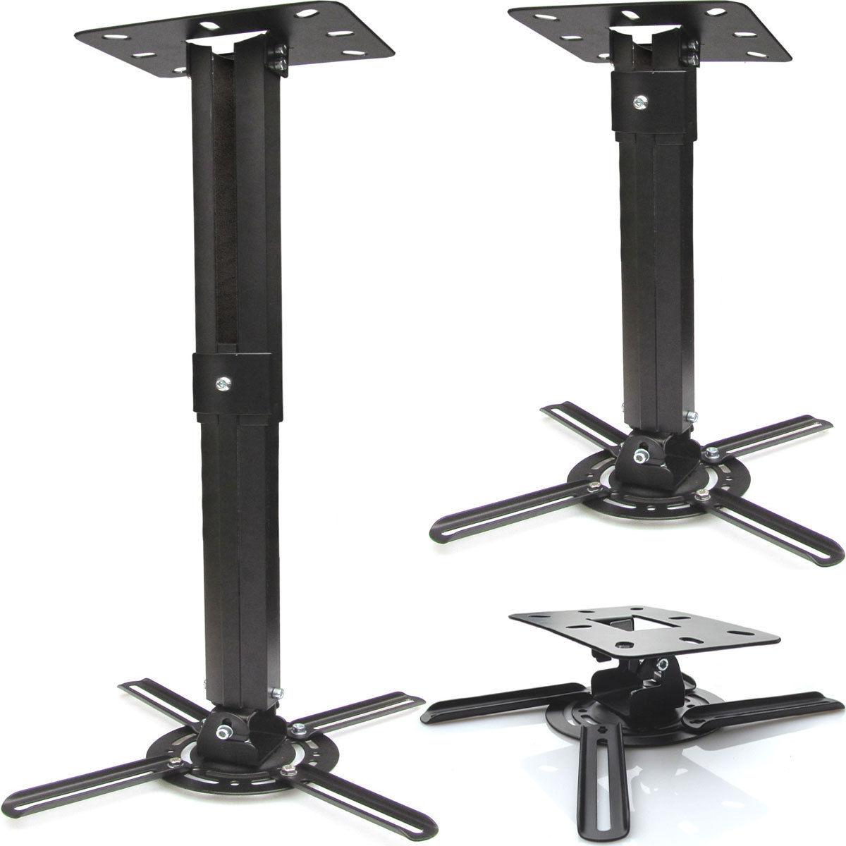 Tv drehbar 360° Beamer Projektor Deckenhalterung drehbar 360° ausziehbar bis 55 cm ...
