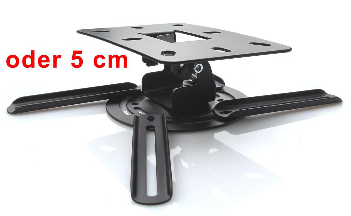beamer projektor deckenhalterung drehbar 360 ausziehbar bis 50 cm schwarz ebay. Black Bedroom Furniture Sets. Home Design Ideas