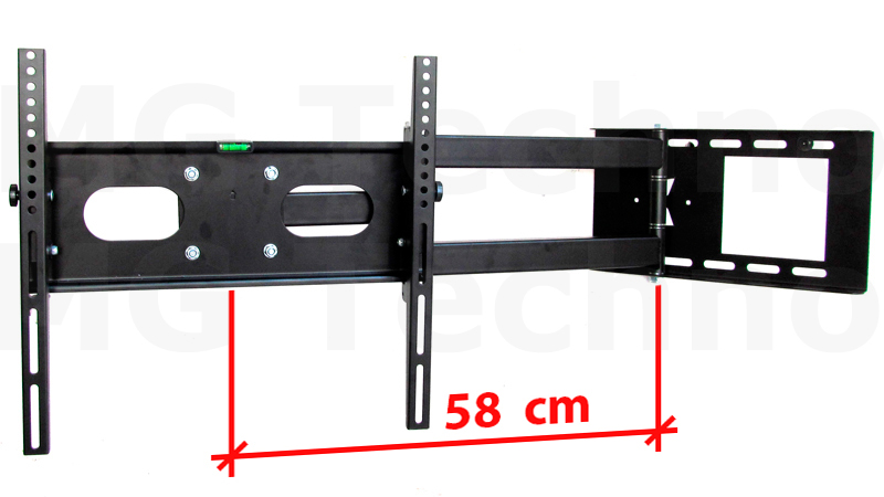 schwenkbare tv wandhalterung wei mit beleuchtung kabelkanal tv bis 55 zoll ebay. Black Bedroom Furniture Sets. Home Design Ideas