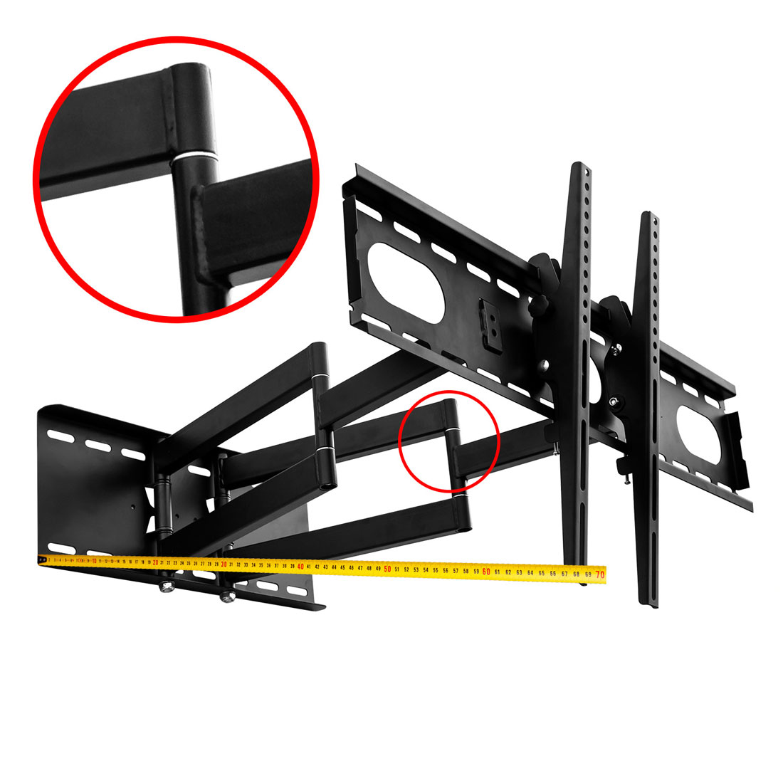 schwenkbare tv wandhalterung ausziehbar neigung tv bis 55 max wandabstand 65 cm ebay. Black Bedroom Furniture Sets. Home Design Ideas