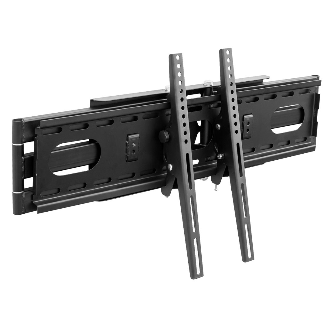 Support Mural Tv à 70 Orientable Bras Double Distance Au Mur 67cm