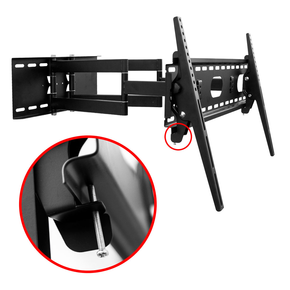 tv wandhalterung doppelarm schwenkbar f r schwere tv bis 70 zoll und 70 kg. Black Bedroom Furniture Sets. Home Design Ideas