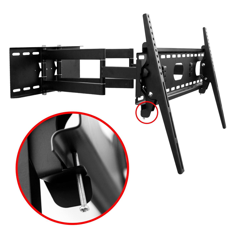 soporte de pared tv hasta 70 orientable de doble brazo. Black Bedroom Furniture Sets. Home Design Ideas