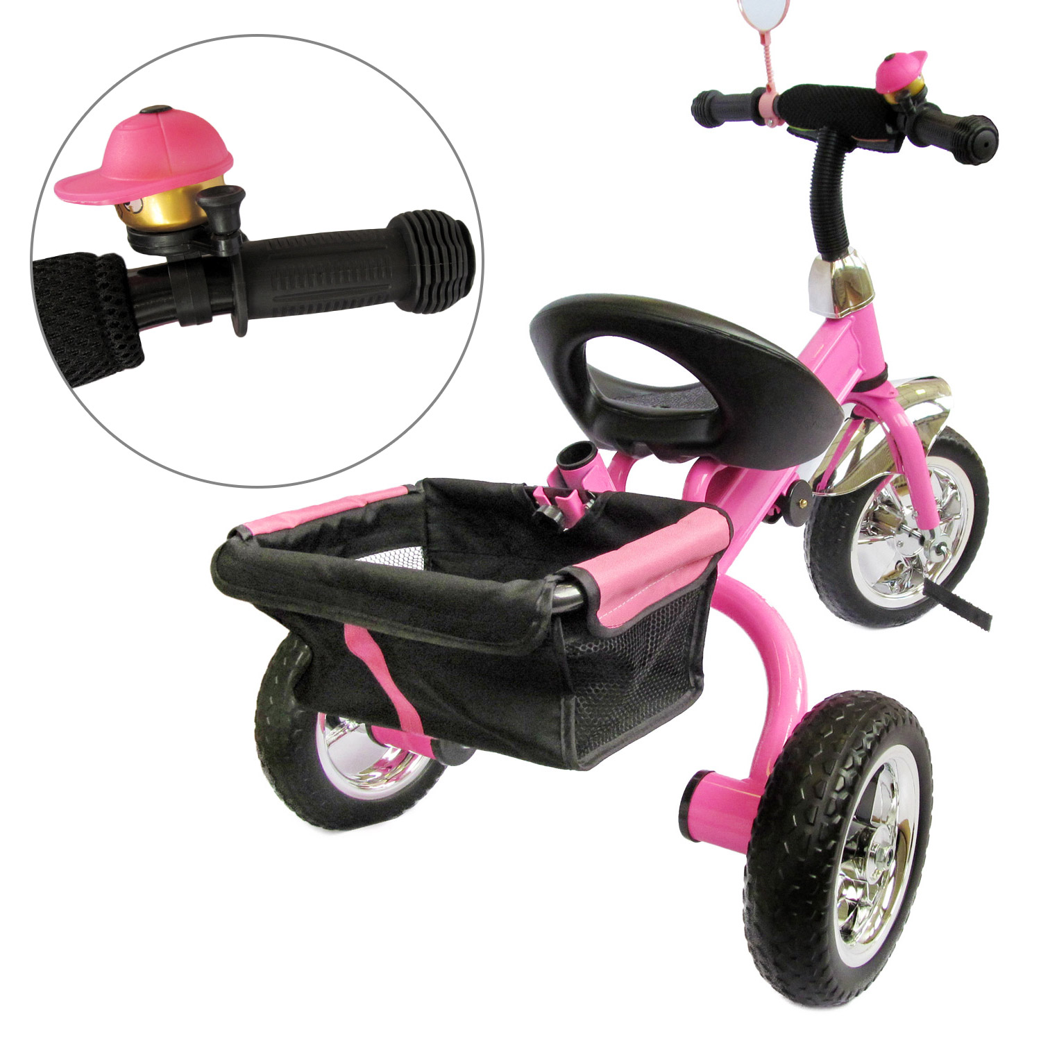 dreirad kinder servolenkung lenkstange kinderdreirad f r 2 5 jahre fahrrad pink ebay. Black Bedroom Furniture Sets. Home Design Ideas