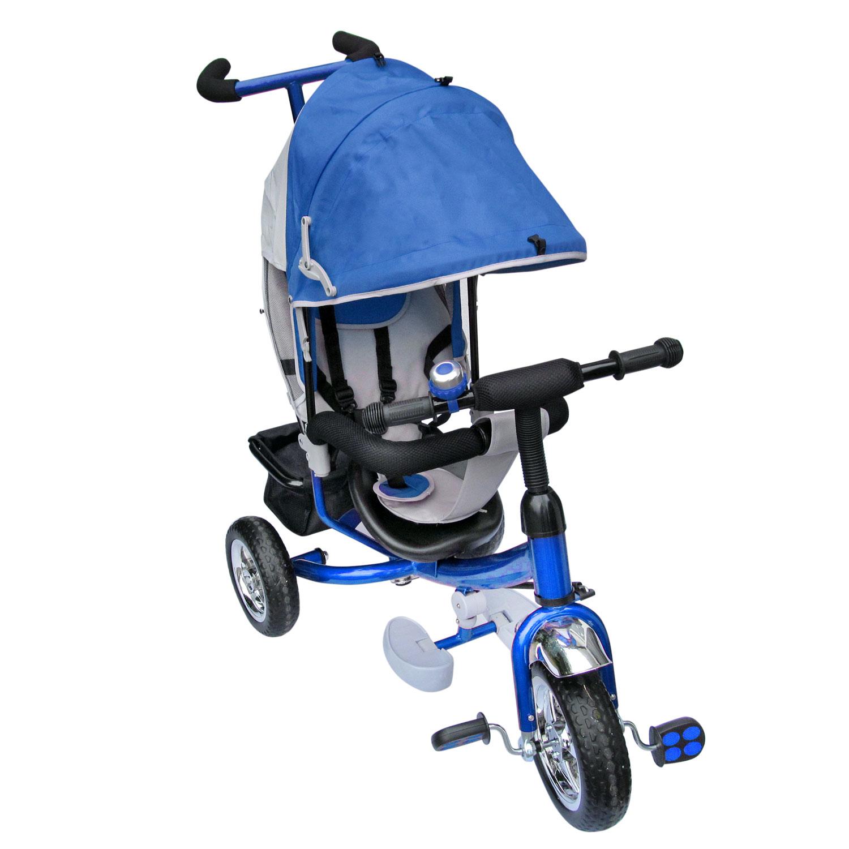 dreirad lenkstange mit dach kinder 2 5 jahre fahrrad blau. Black Bedroom Furniture Sets. Home Design Ideas
